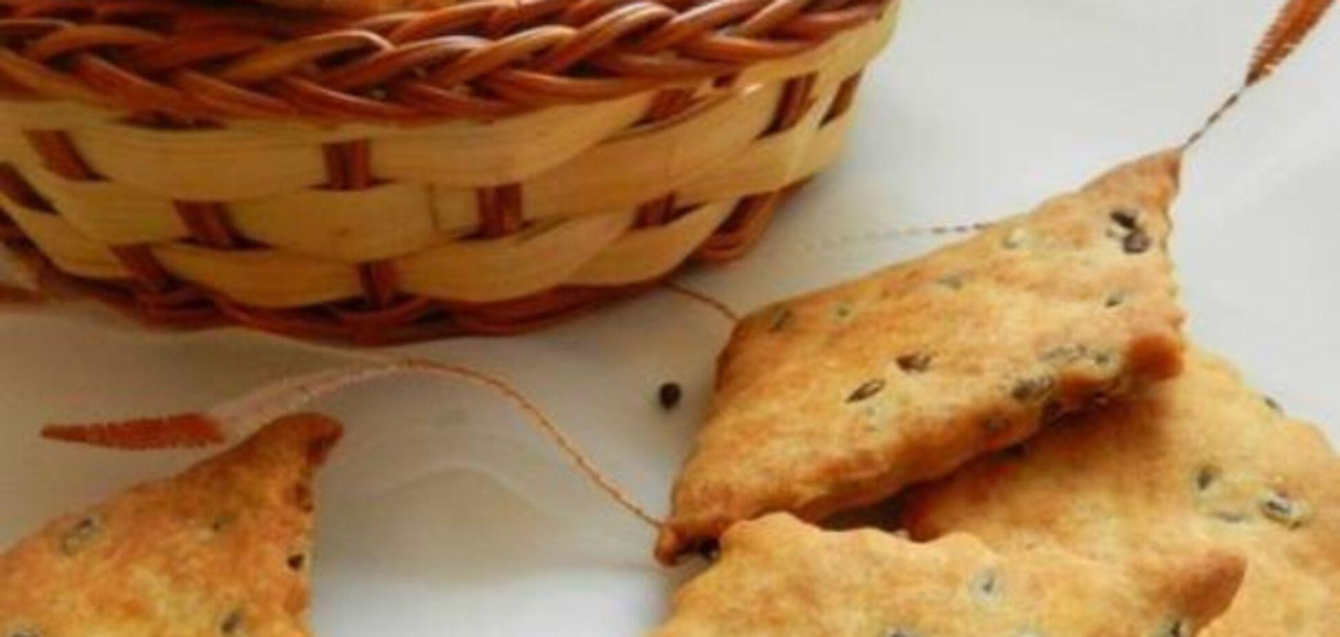 печенье, семена льна