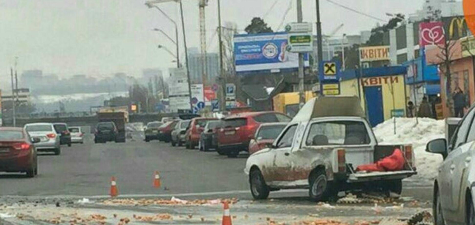 ДТП с яйцами в Киеве