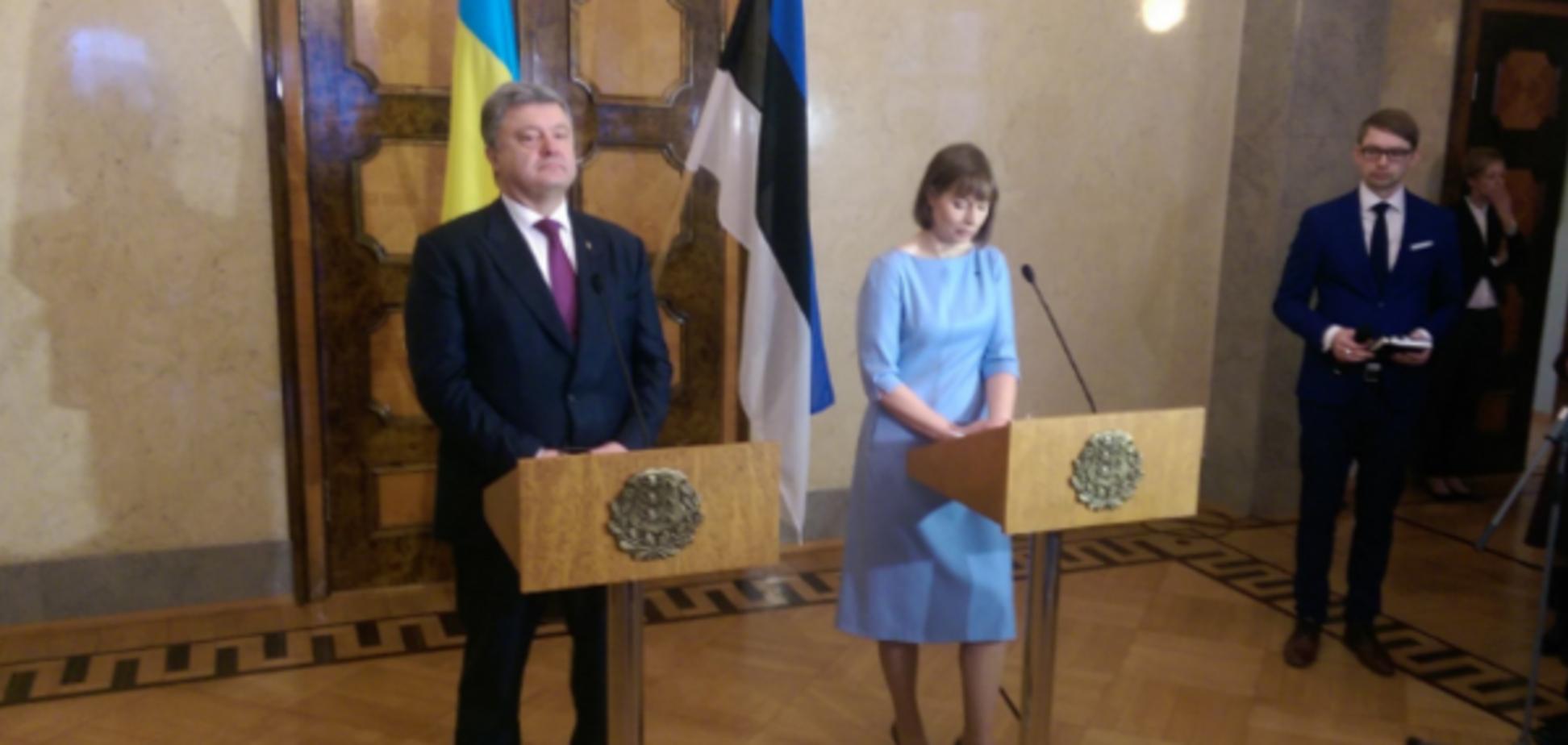 Петр Порошенко и Керсти Кальюлайд