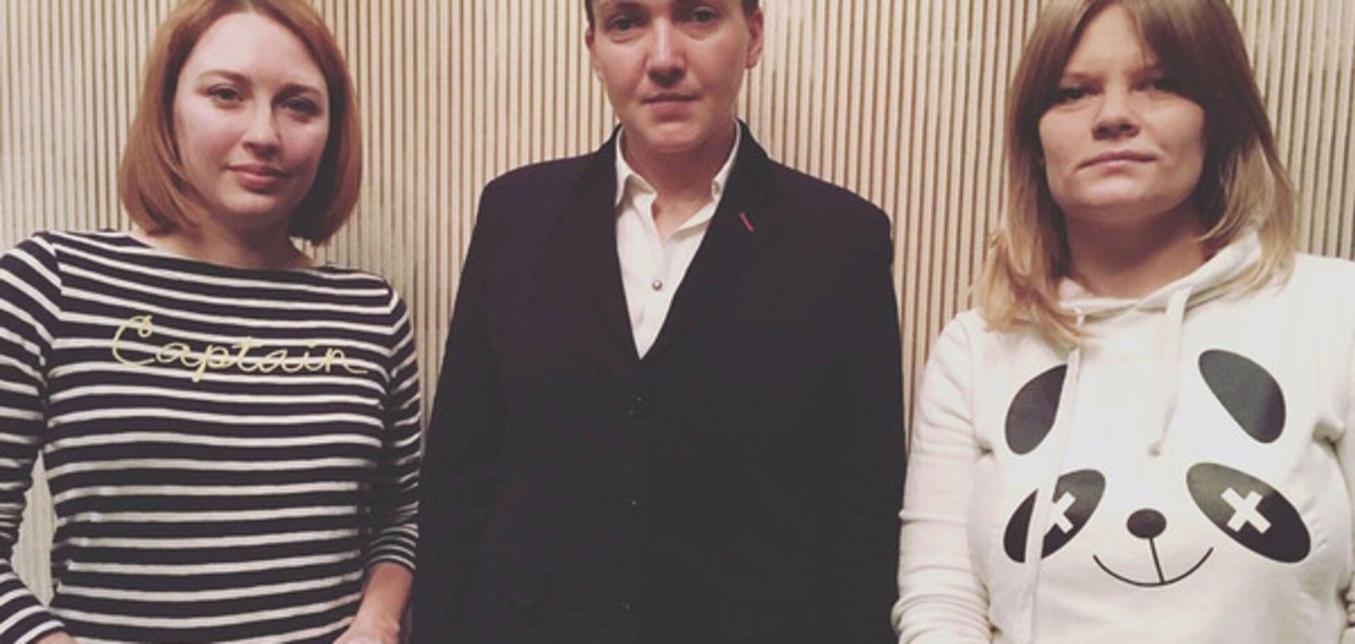 Надежда Савченко и журналисты Эхо Москвы