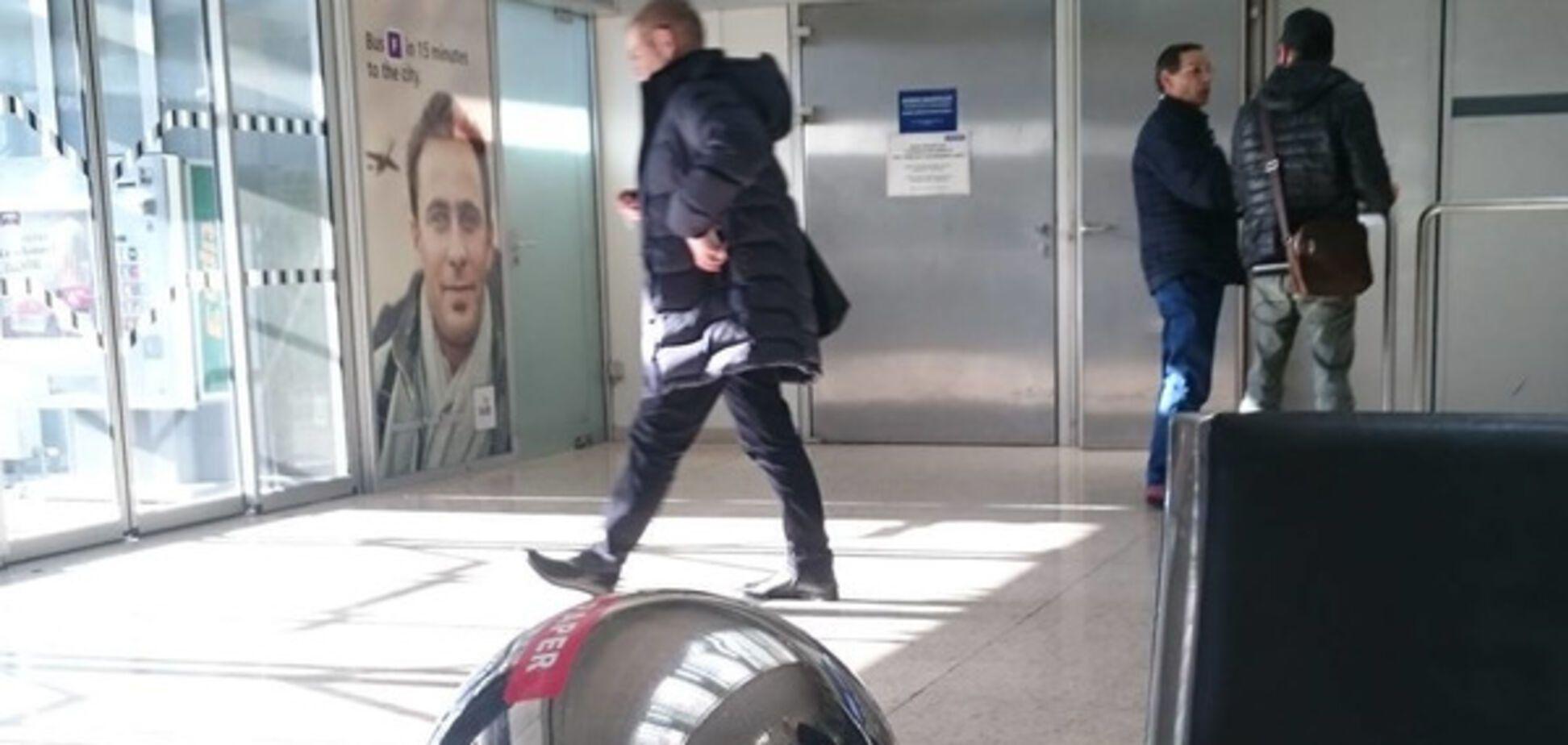 Сергій Пашинський в аеропорту Інсбрука