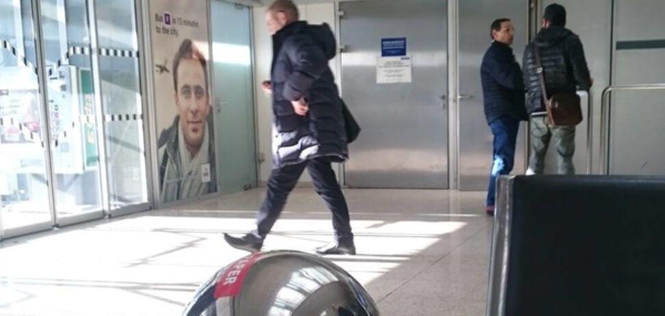 Сергей Пашинский в аэропорту Инсбрука