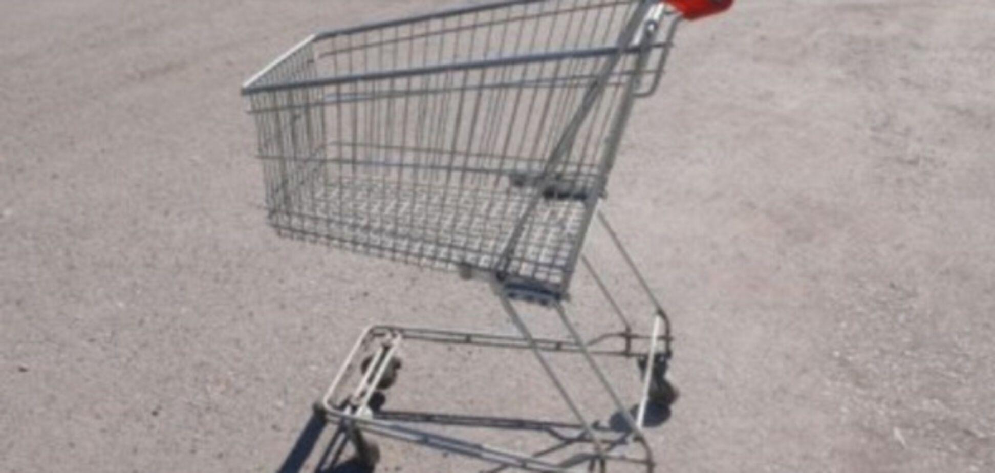 Из бердянских супермаркетов крадут продуктовые тележки