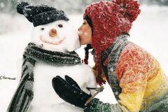 Снеговик, девушка