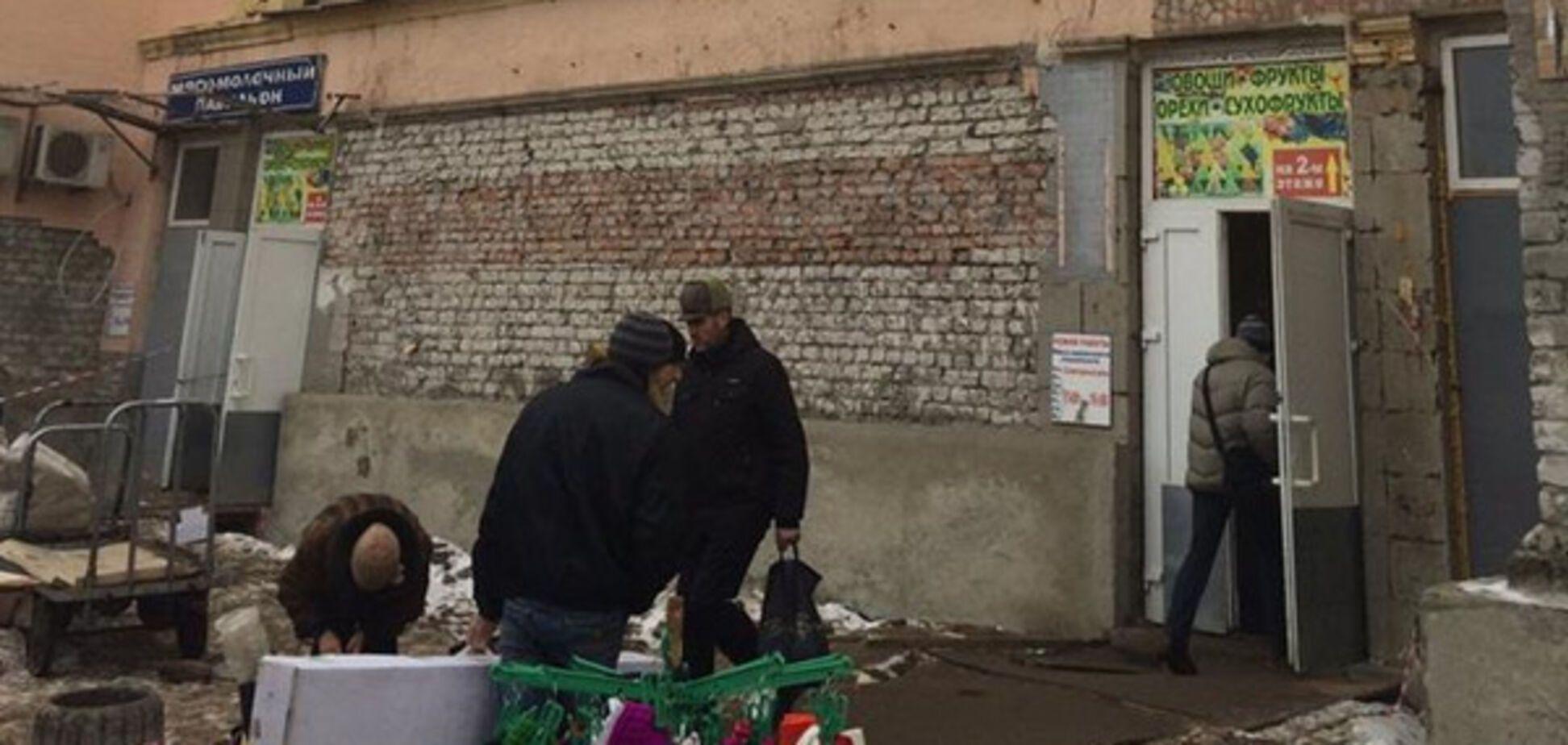 Здание мясного павильона Центрального рынка Луганска