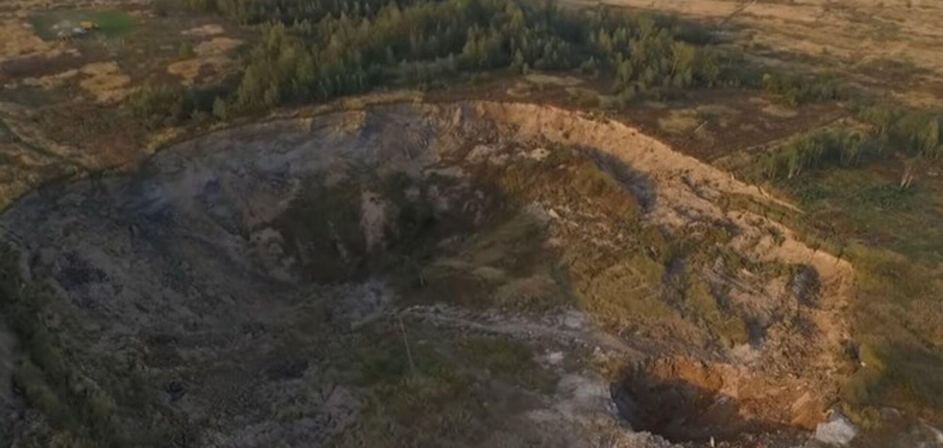 Землетрус в Україні: масштабний кратер зняли на відео