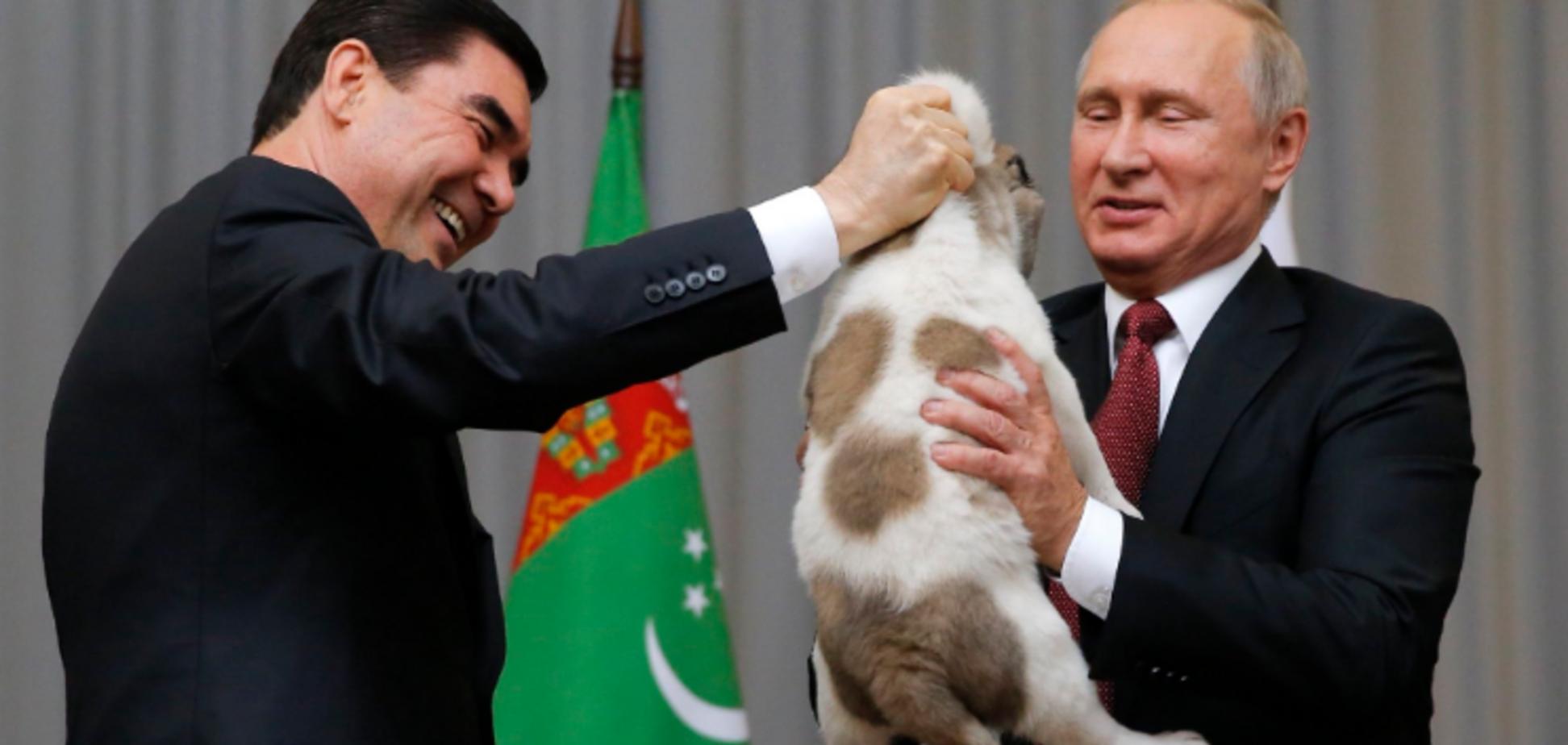 'Жалко собаку!' Путину подарили щенка алабая. Опубликованы фото
