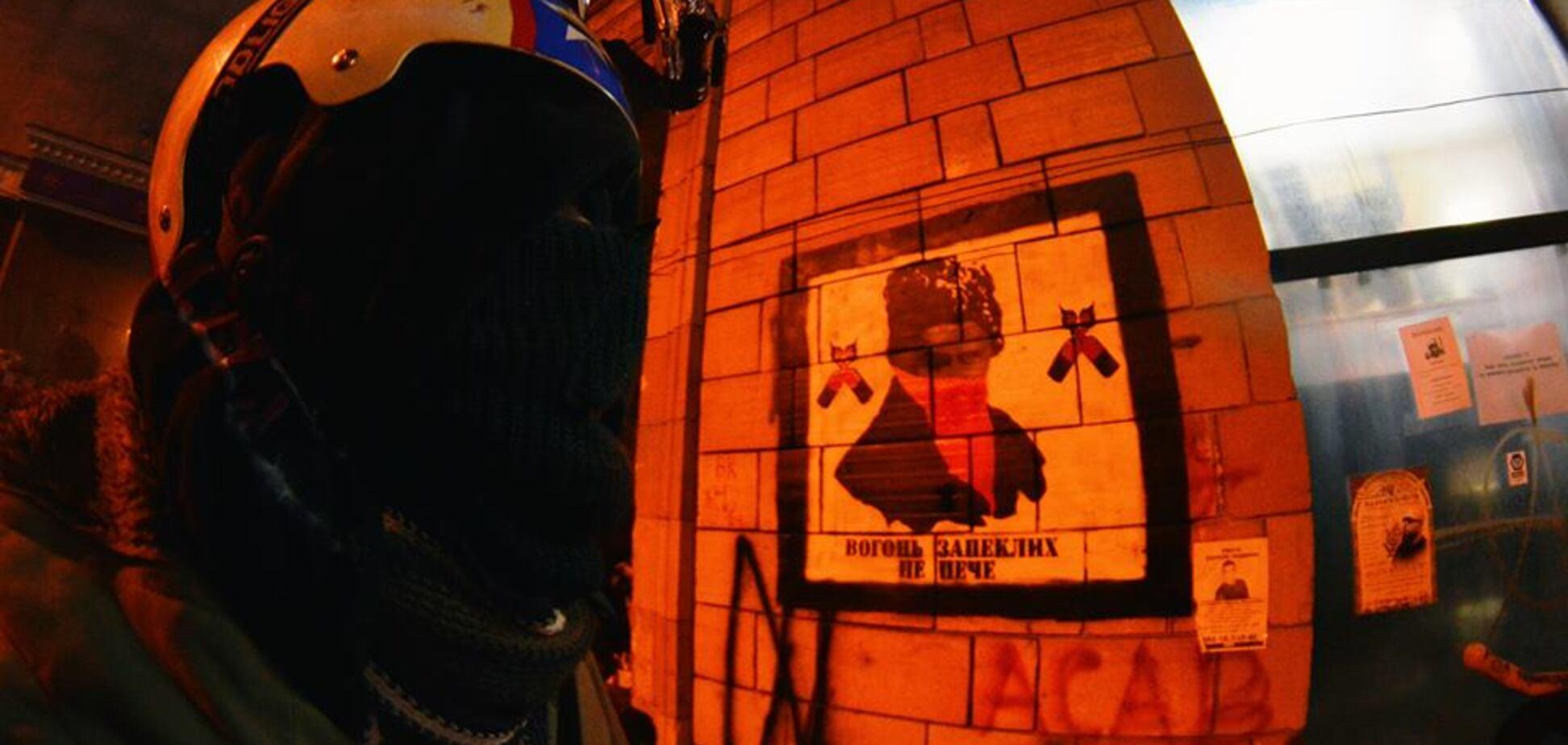 Скандал с граффити времен Майдана: автор 'икон' назвал их восстановление 'акцией вандализма'