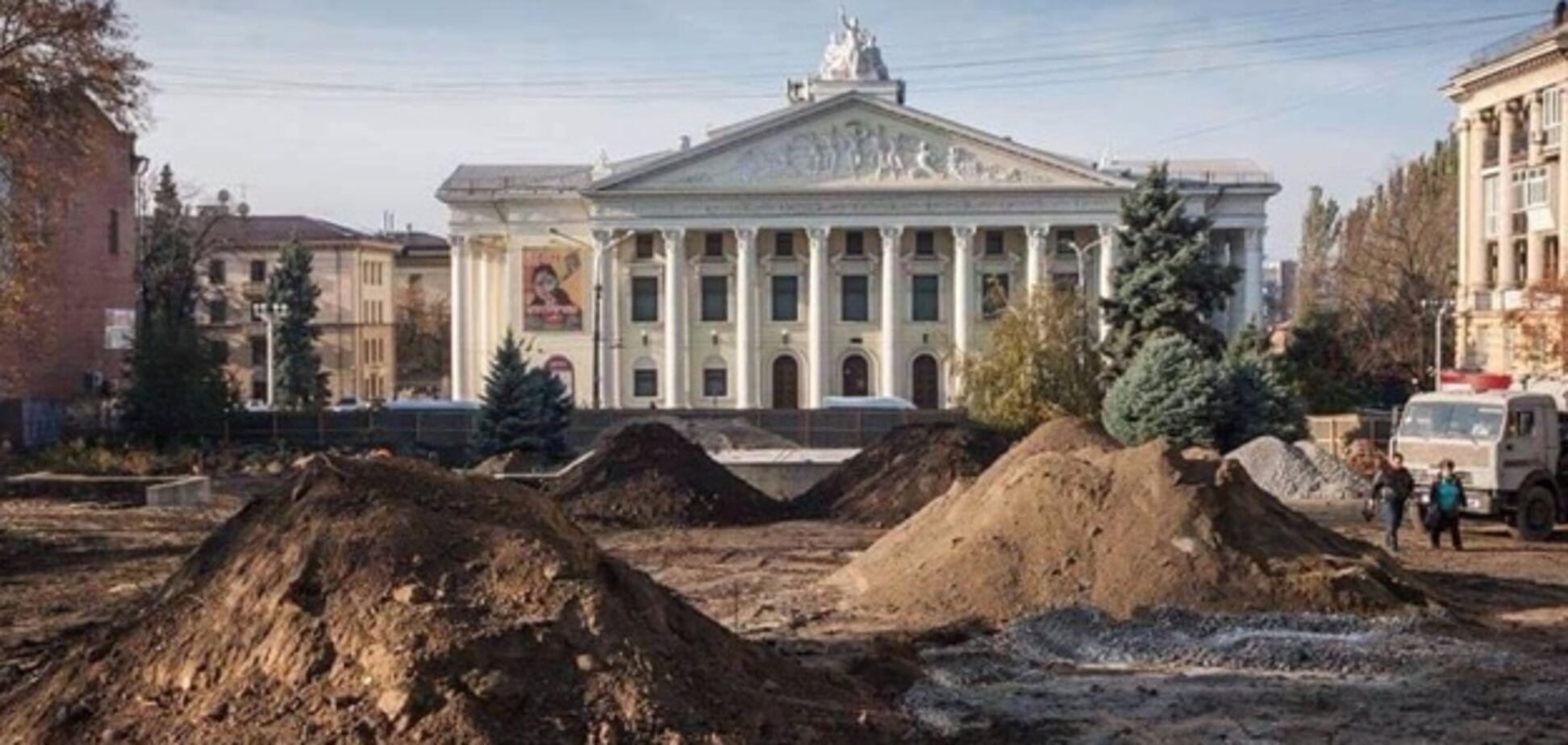 В запорожском сквере проходит масштабная реконструкция