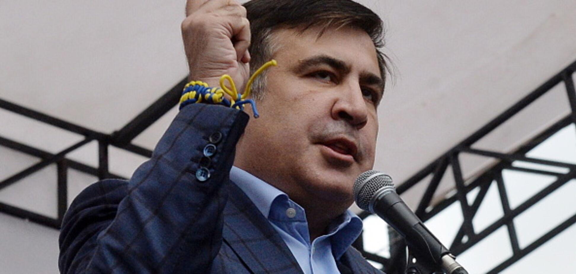 'Пока люди мерзнут в палатках': Саакашвили засветился на шикарном банкете