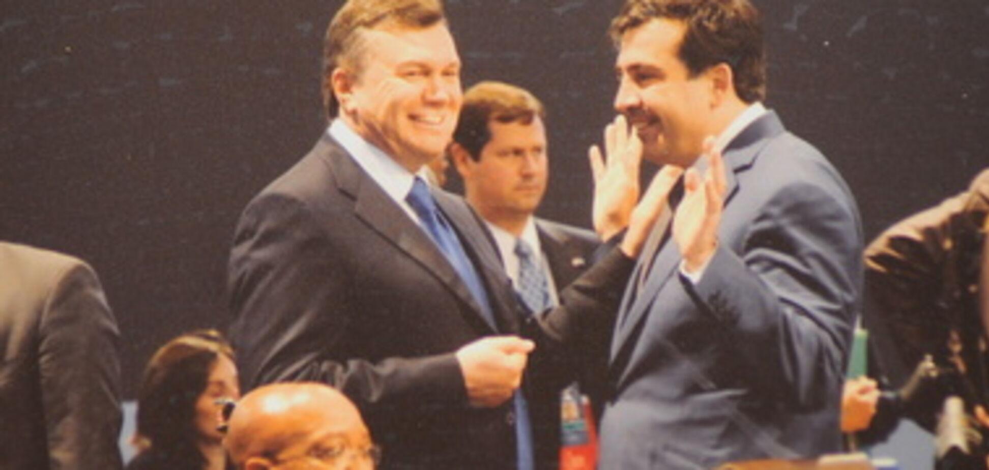 Янукович і Саакашвілі