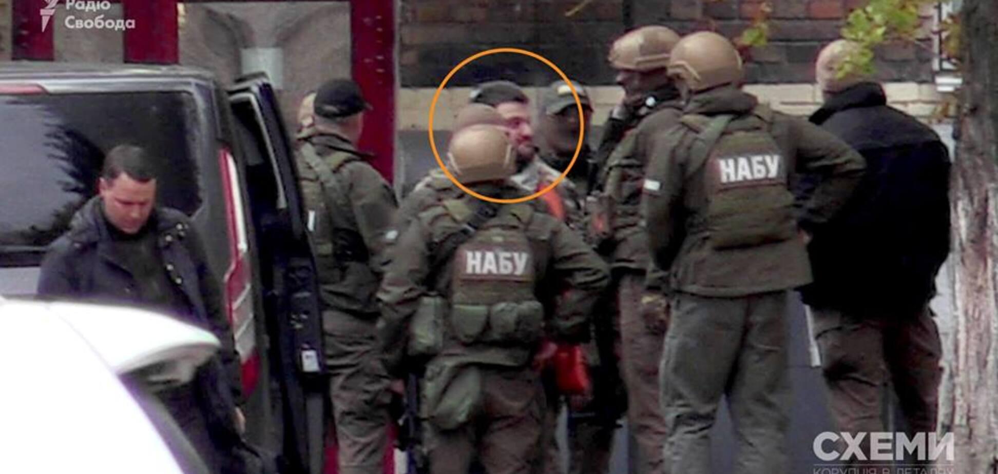 Задержанного сына Авакова доставили в НАБУ: появились фото и видео
