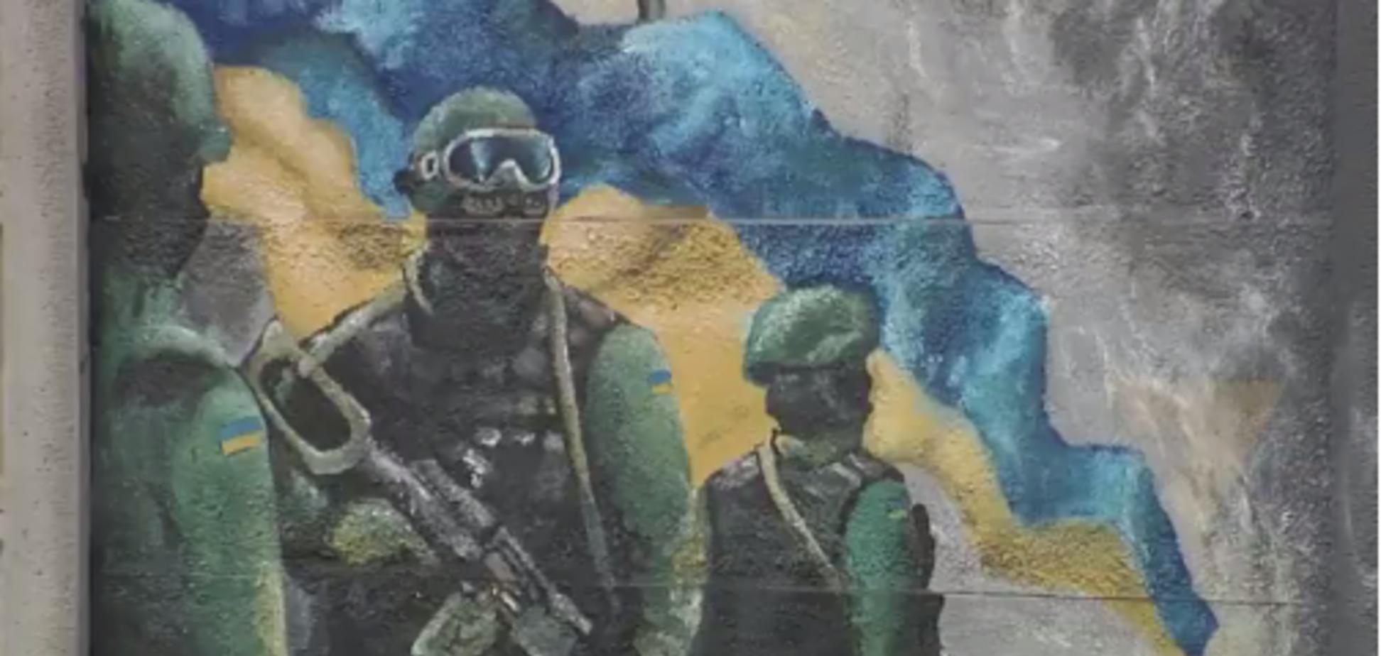 'Солдат рисует, служба идет': боец Нацгвардии создал арт-блокпост в прифронтовой зоне