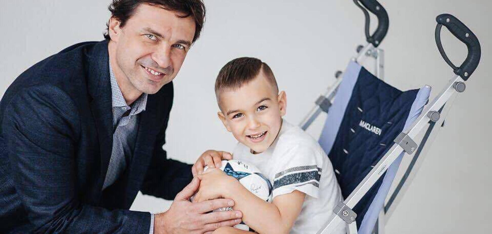 Легенда 'Динамо' допоміг 5-річному хлопчику з ДЦП