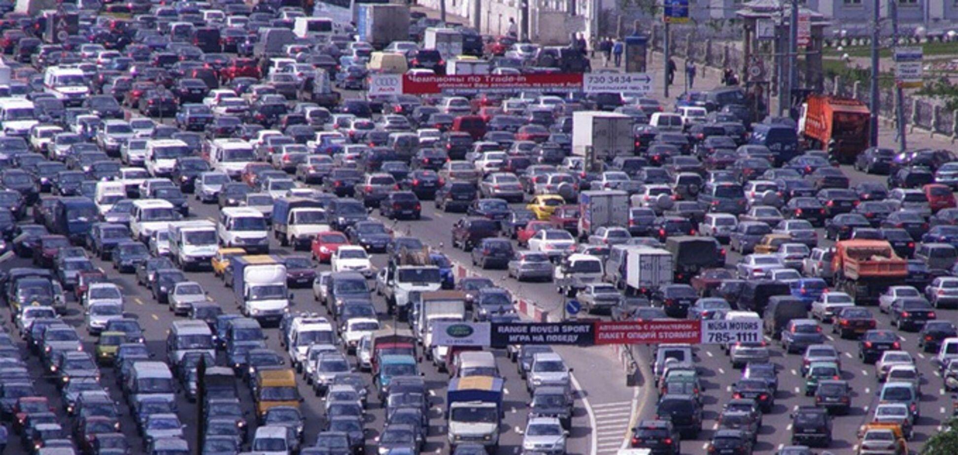 Транспортный коллапс в Киеве