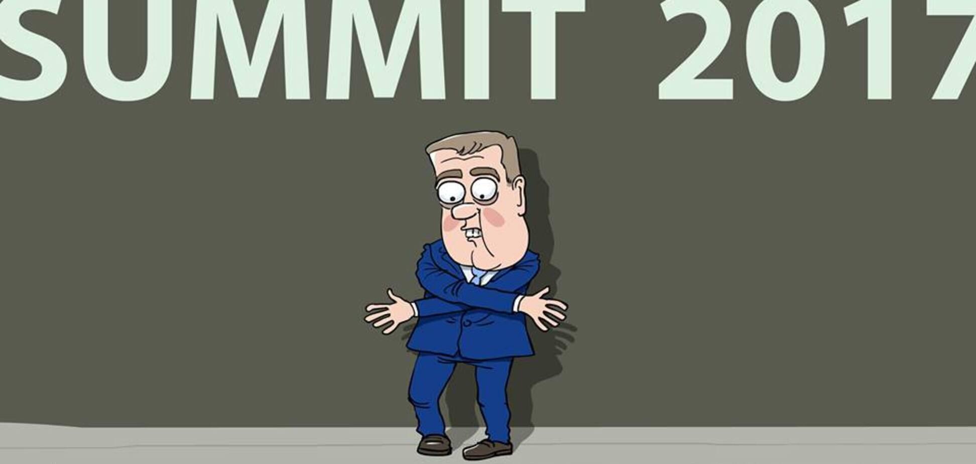 'У Димона это хроническое': сеть рассмешила карикатура на конфузное фото Медведева