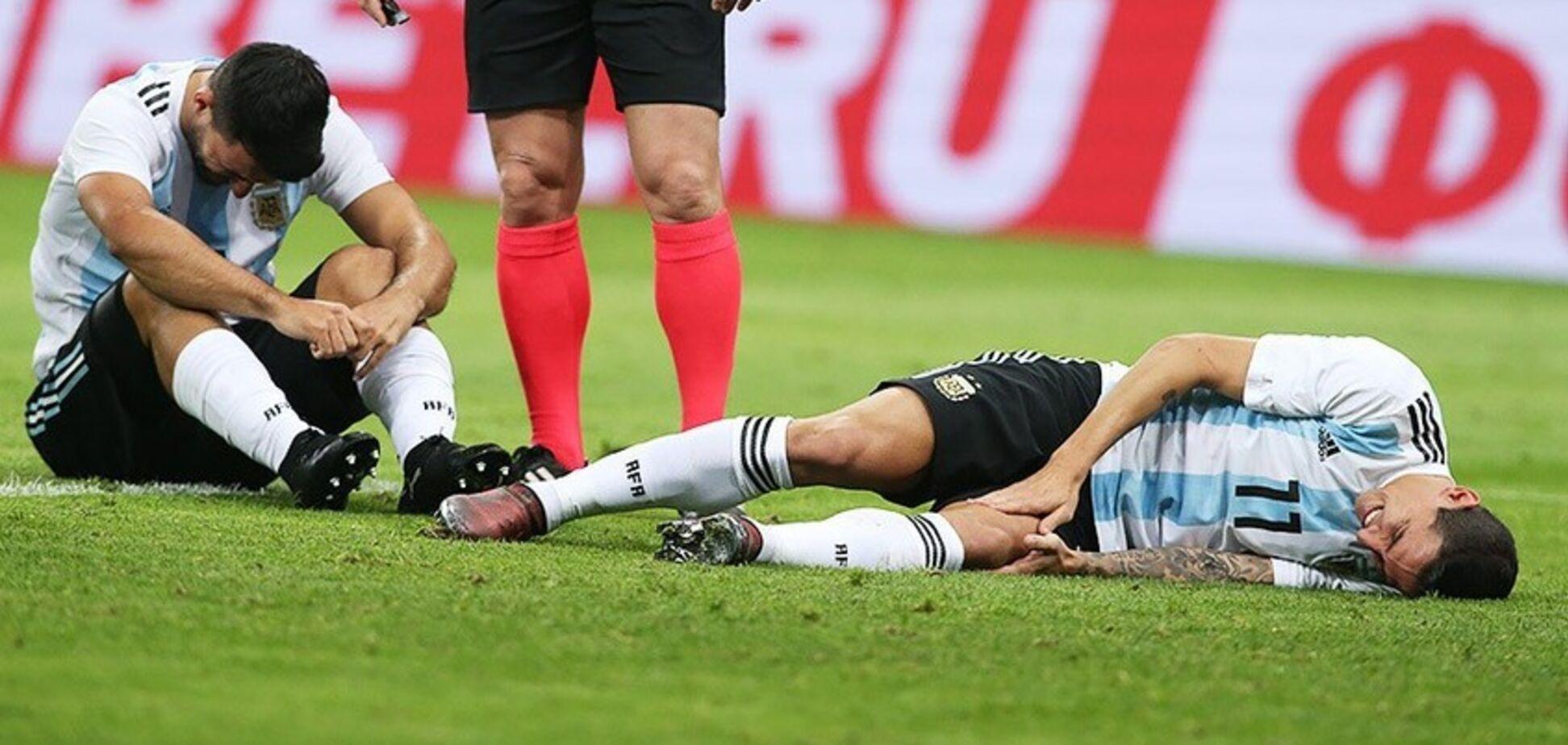 Нападающий сборной Аргентины был срочно госпитализирован с матча в России