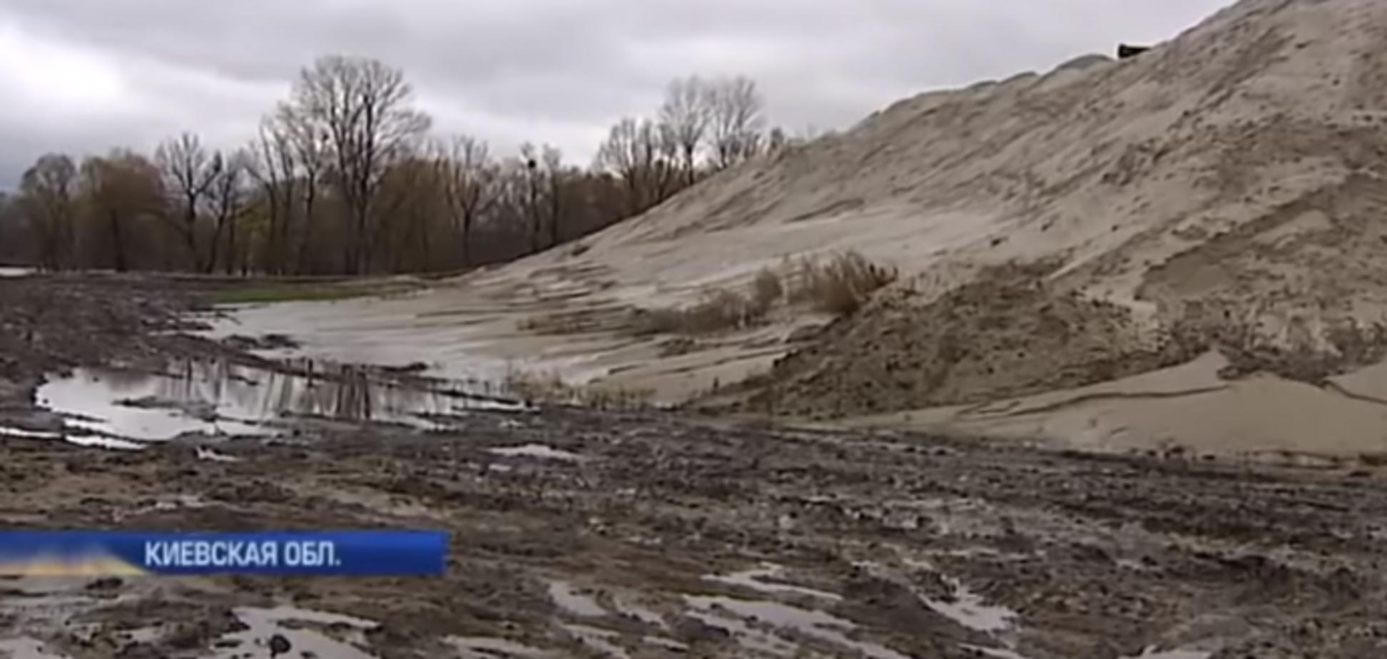 Добыча песка, Киев, Погребы, Киевская область