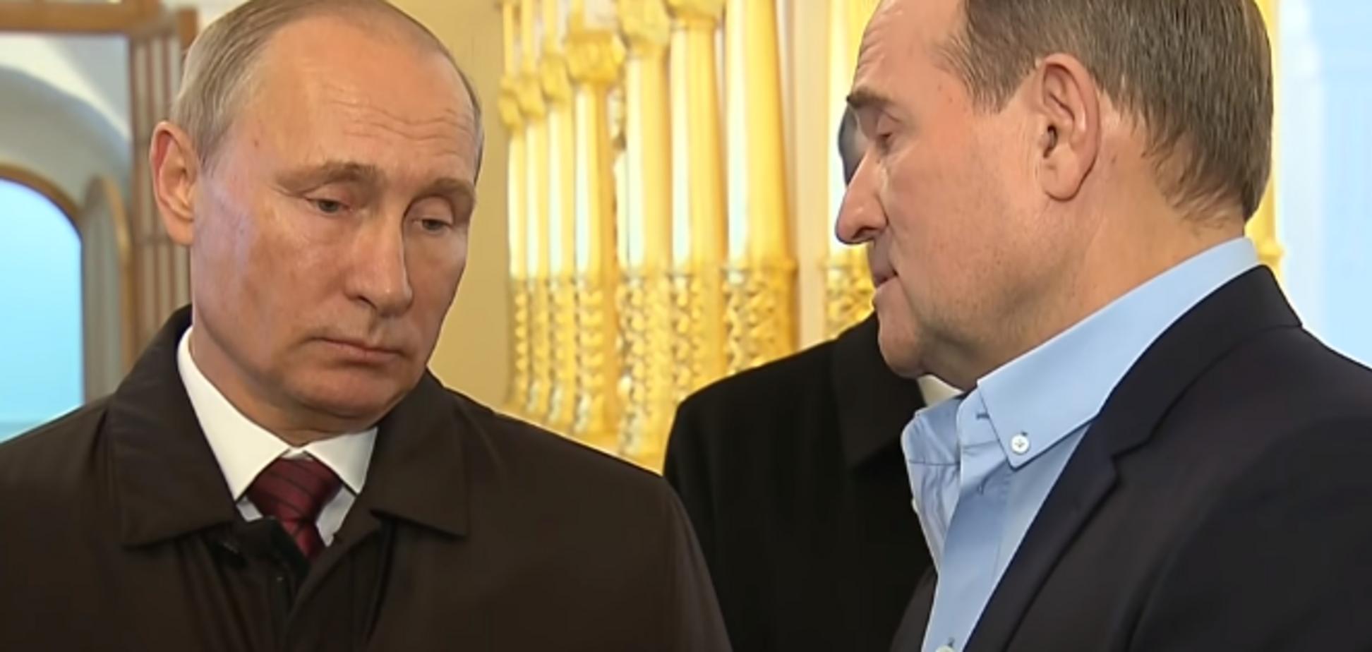 В присутствии патриарха: появилось видео встречи Медведчука и Путина