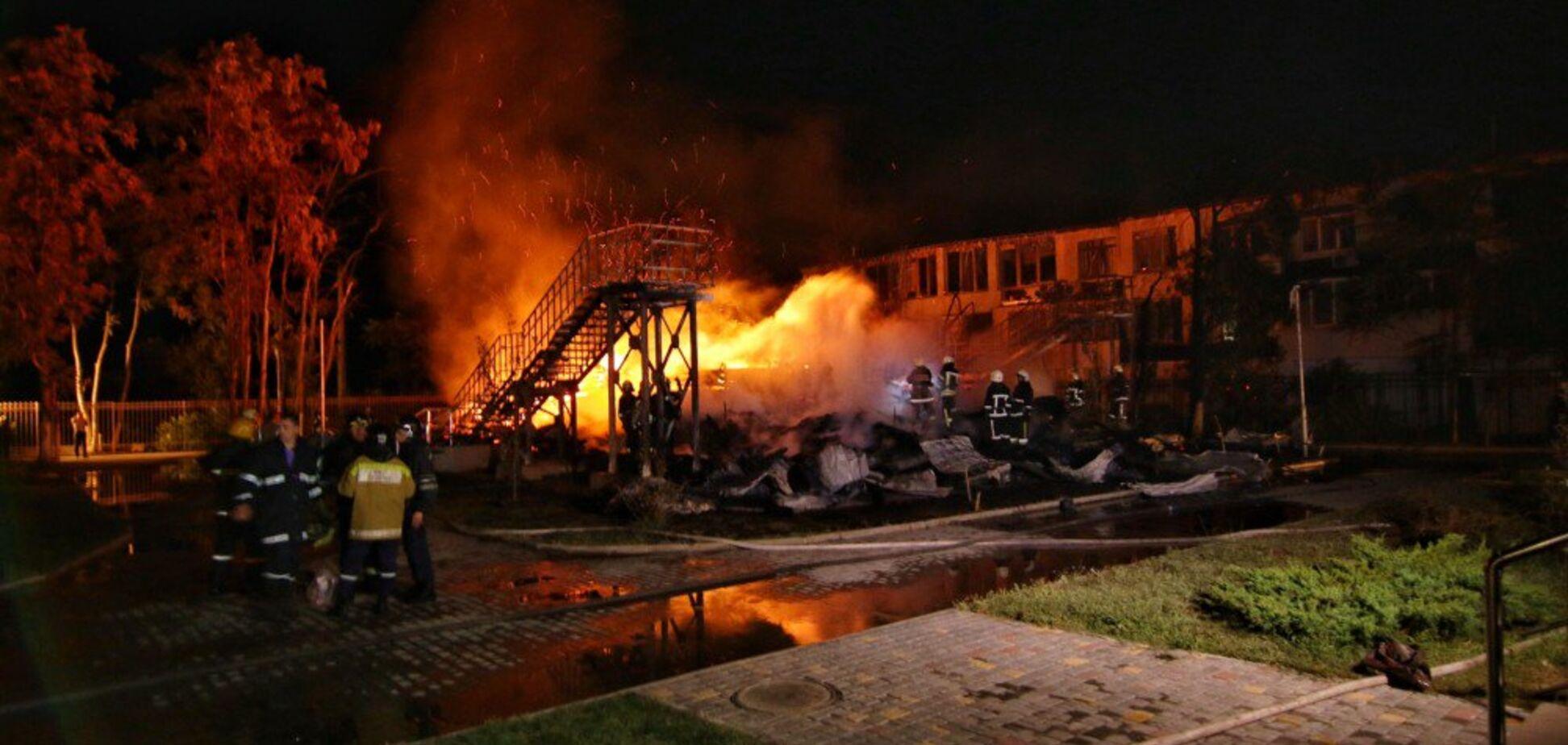 Официально: стала известна причина пожара в одесском лагере 'Виктория'