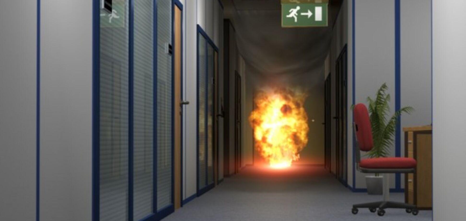 В Запорожье из-за короткого замыкания загорелся офис