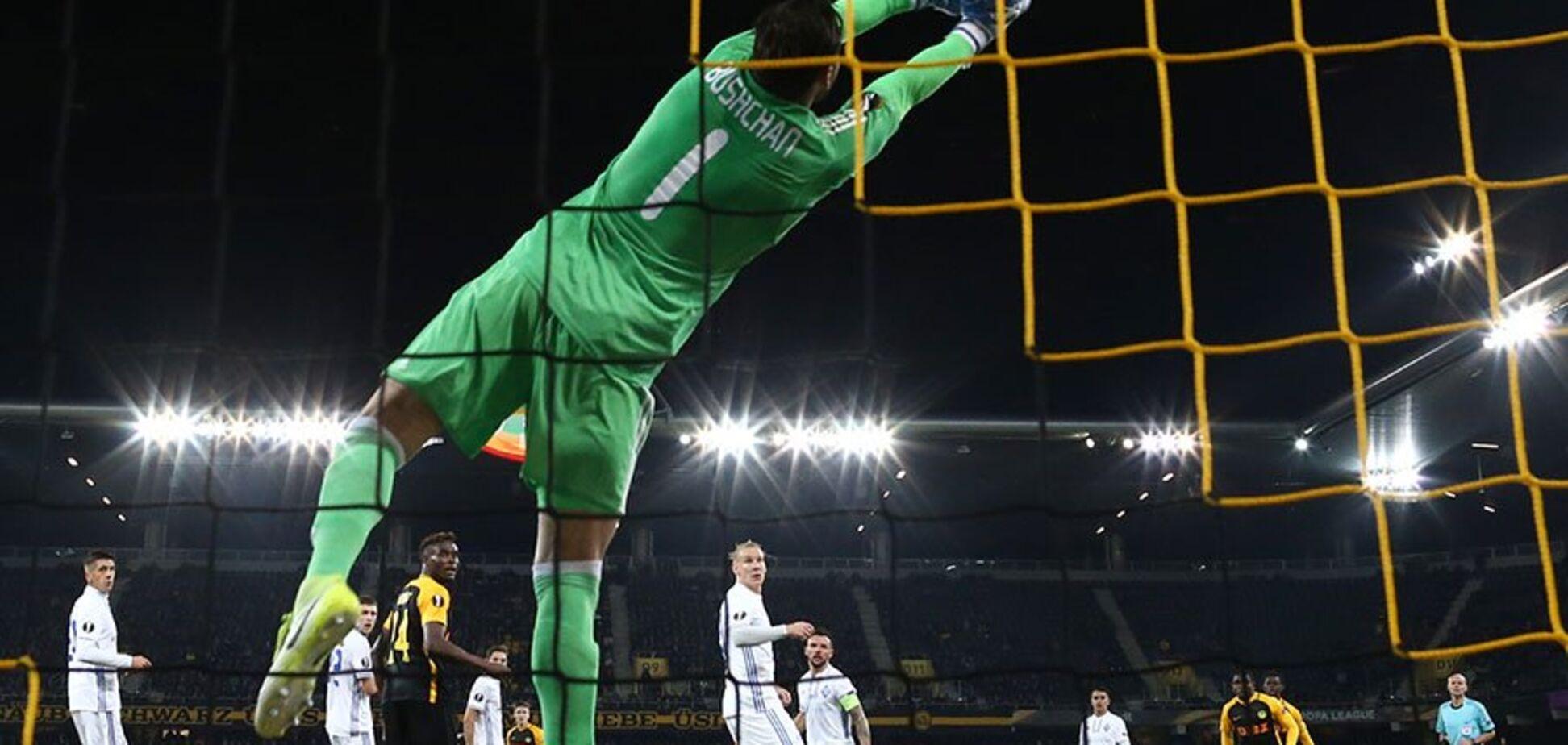 'Здалося': воротар 'Динамо' пояснив дикий конфуз під час матчу з 'Янг Бойз'
