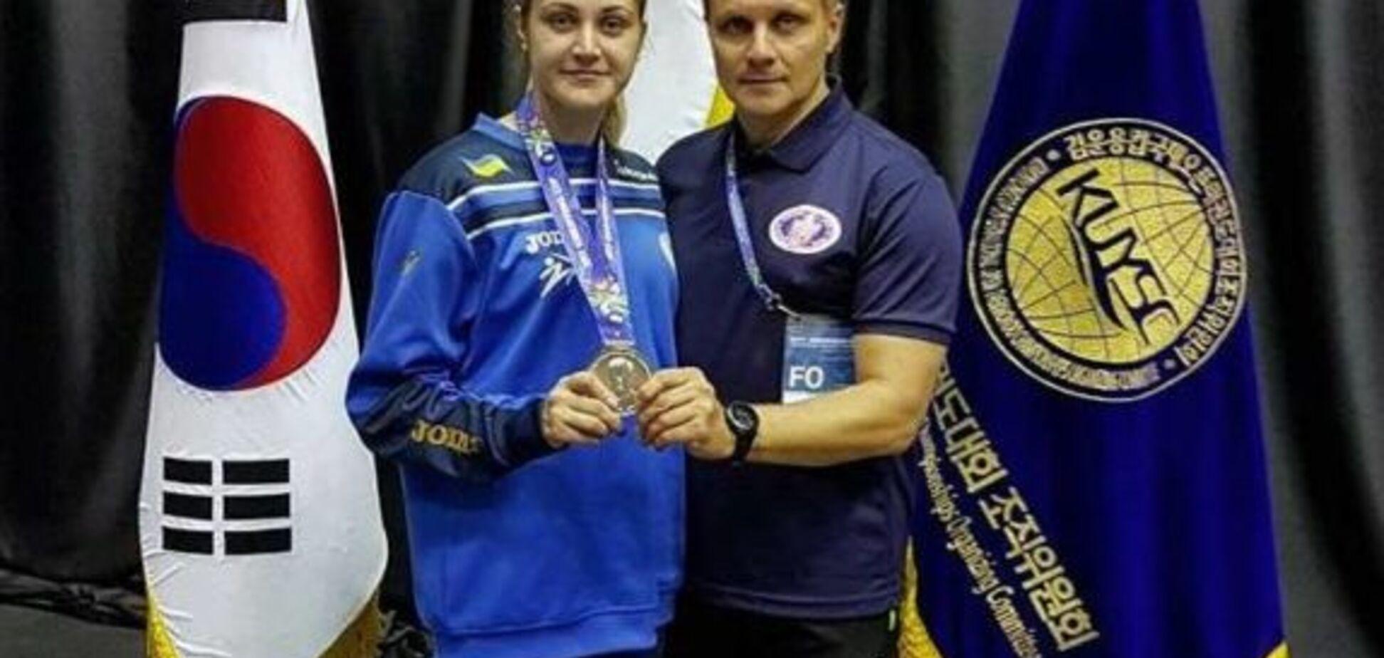 Запорожская спортсменка завоевала серебро на международном турнире в Корее
