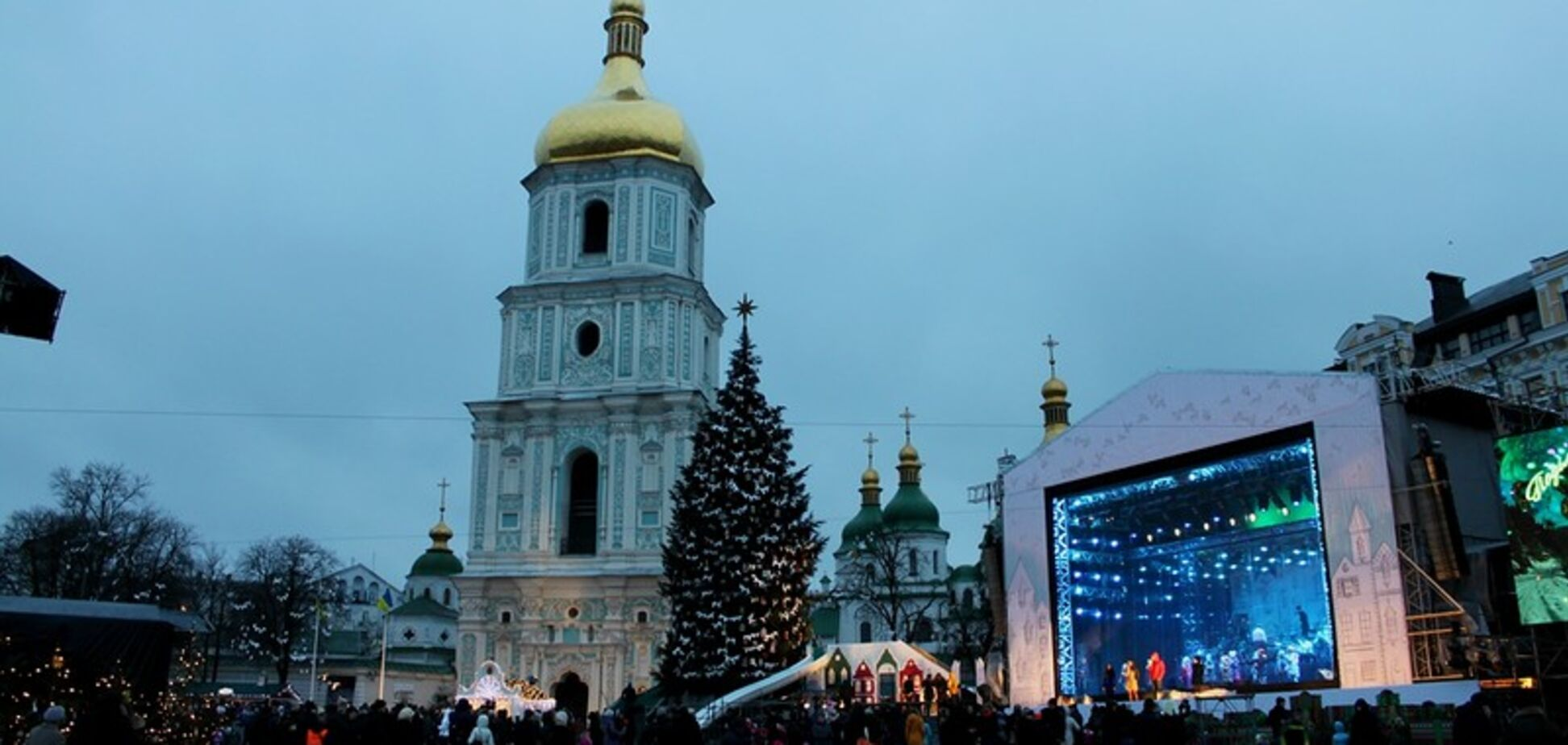 Софийская площадь, Новый год