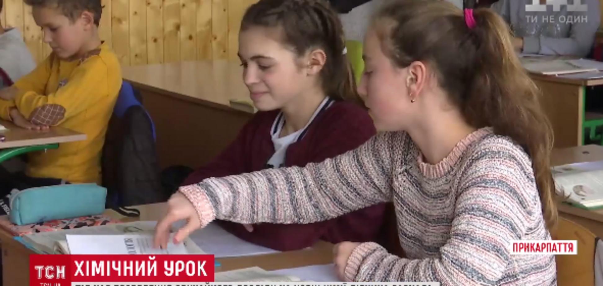 На Прикарпатье школьница чуть не сгорела на уроке химии