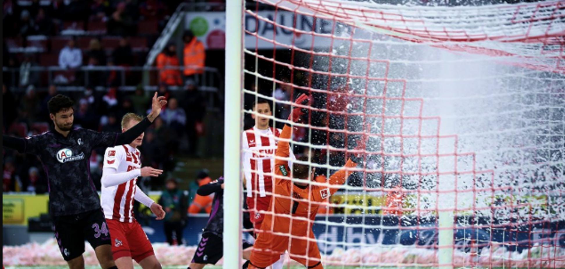 Камбек сезона: немецкий клуб одержал феерическую победу, проигрывая 0:3 при лютом снегопаде - видео голов