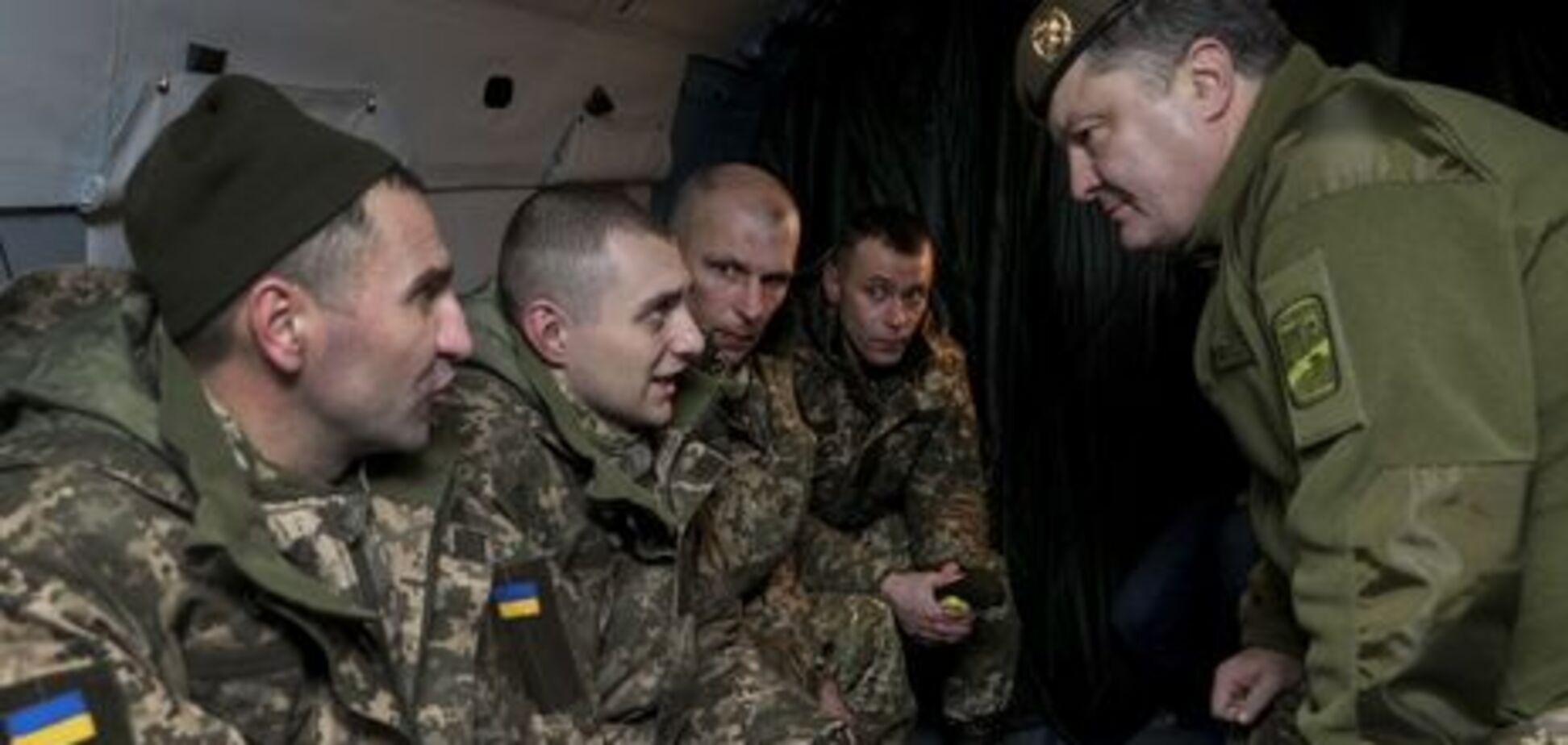 Петр Порошенко и освобожденные пленные