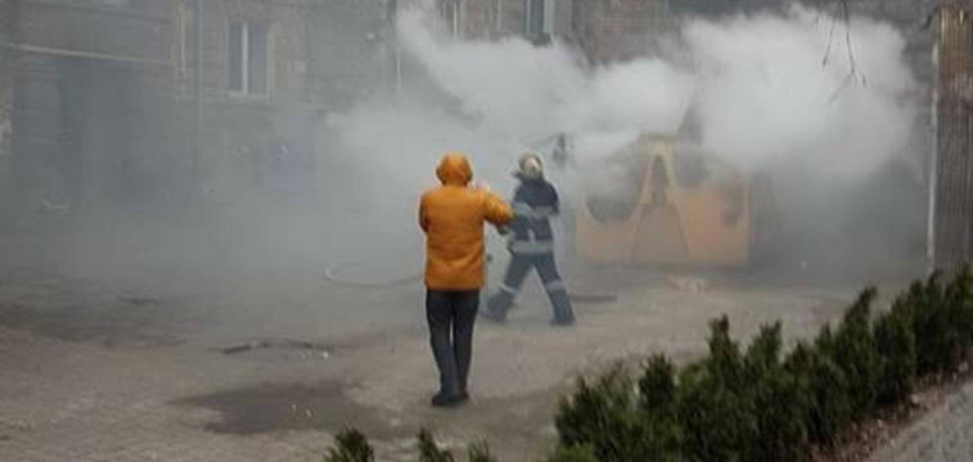 В центре Киева прогремел взрыв: первые фото с места ЧП