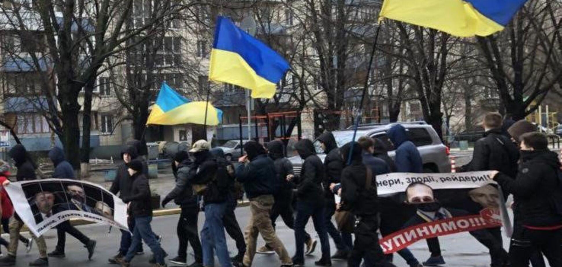У Києві пройшов 'марш проти свавілля судді Ємельянова та його поплічників Маліка і Татькова'