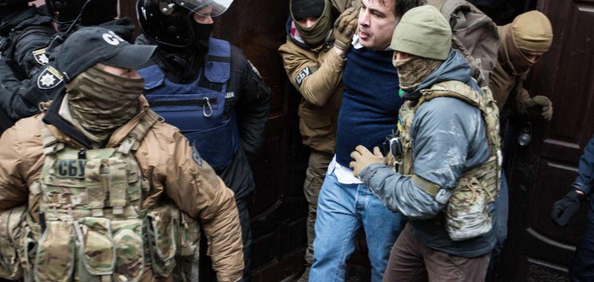 С обысками и угрозами суицида: в Киеве задержали Саакашвили, все подробности