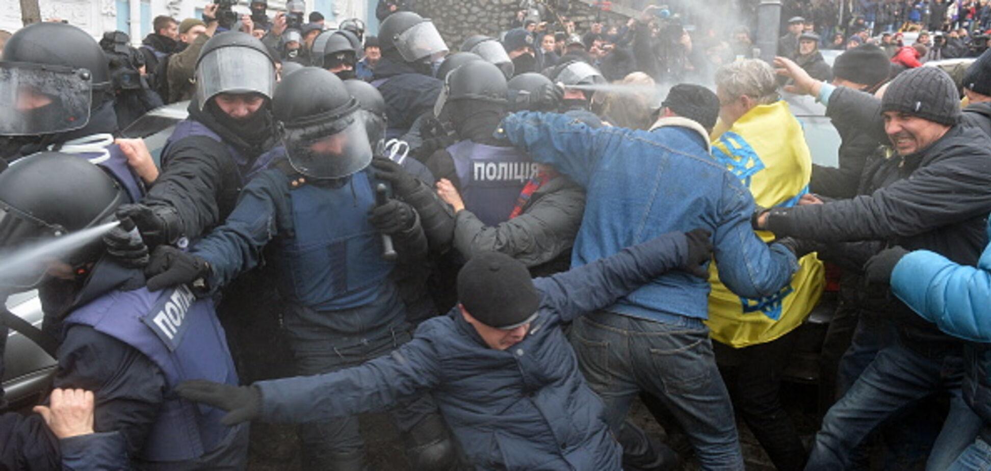 'Звільнення' Саакашвілі: у МВС назвали кількість затриманих