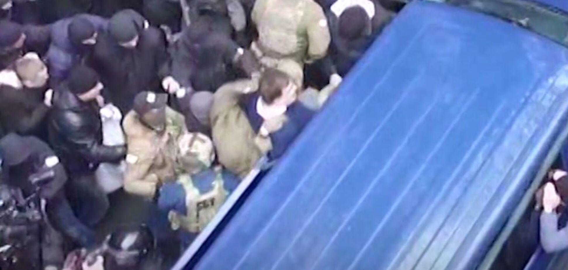 Как задерживали Саакашвили: появилось видео с дрона