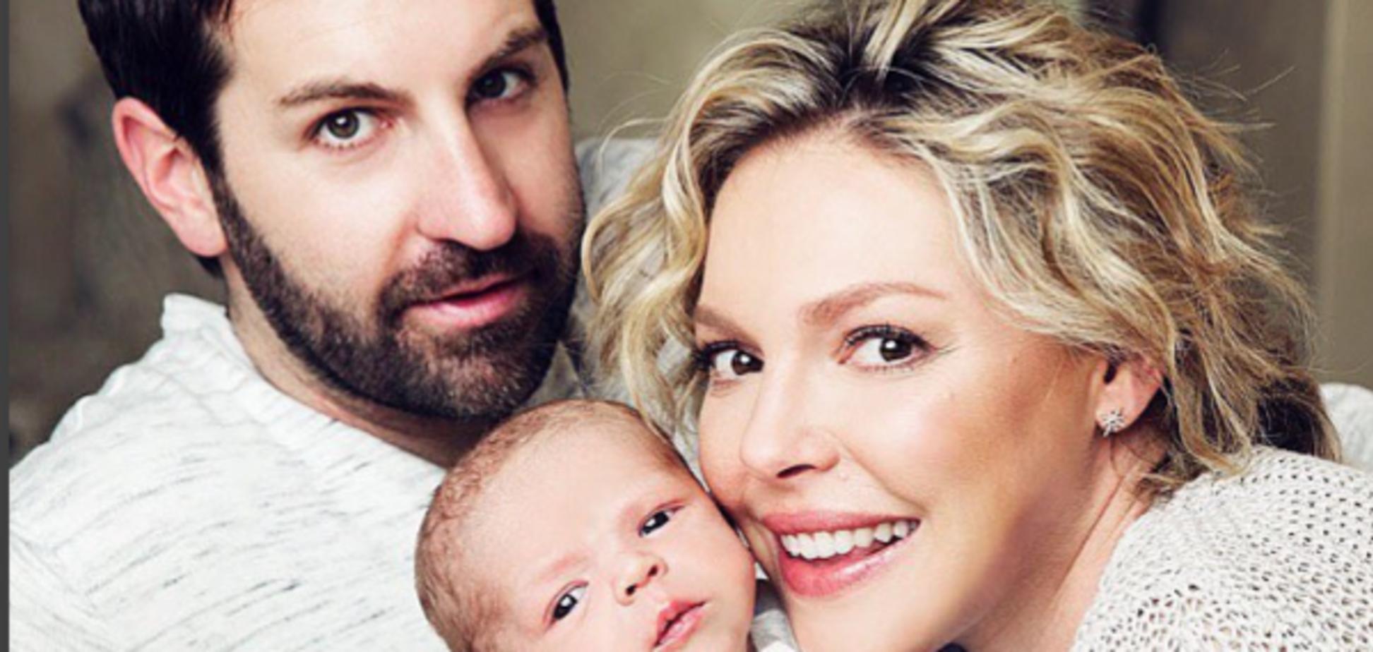 Кетрін Хейгл поділилася зворушливим знімком чоловіка з новонародженим сином