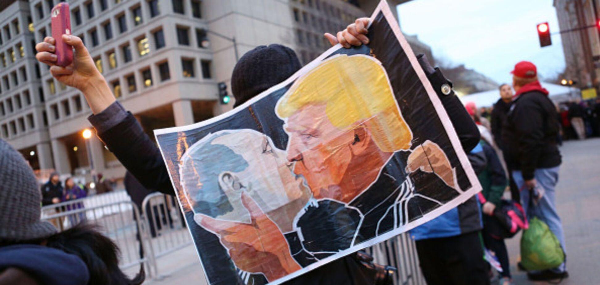 Путін і Трамп цілуються