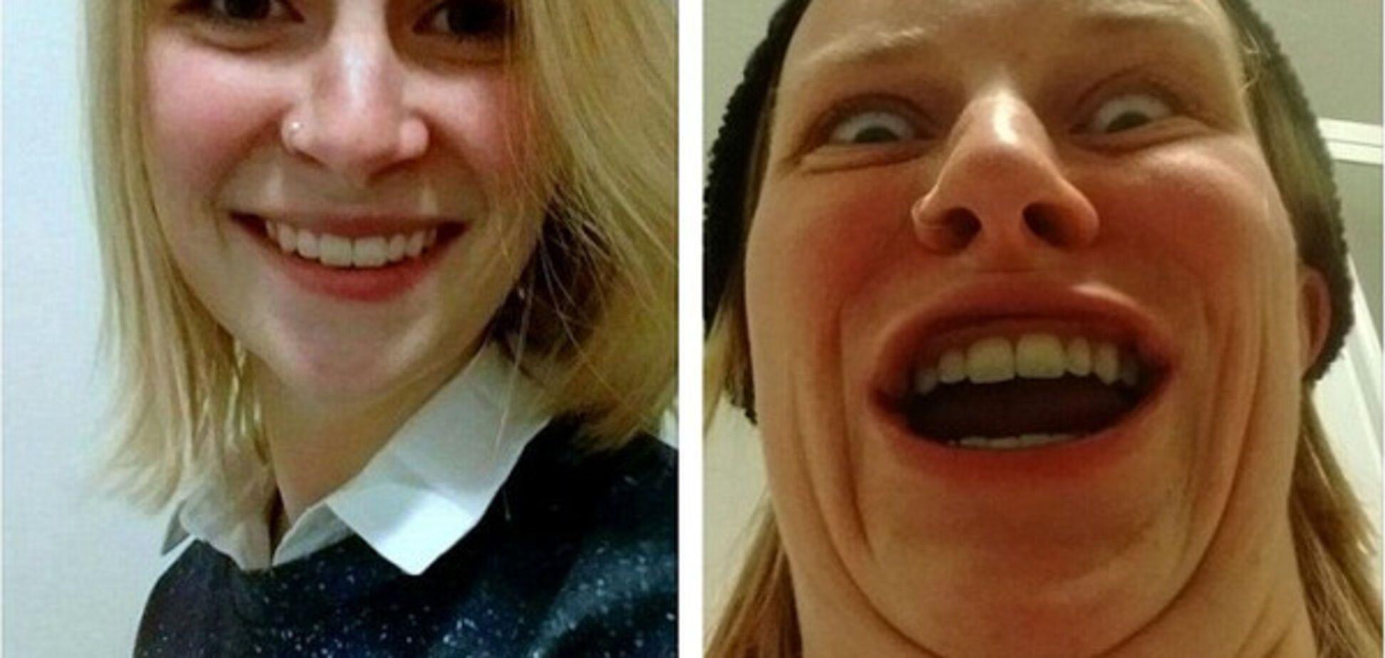Смешные селфи девушек