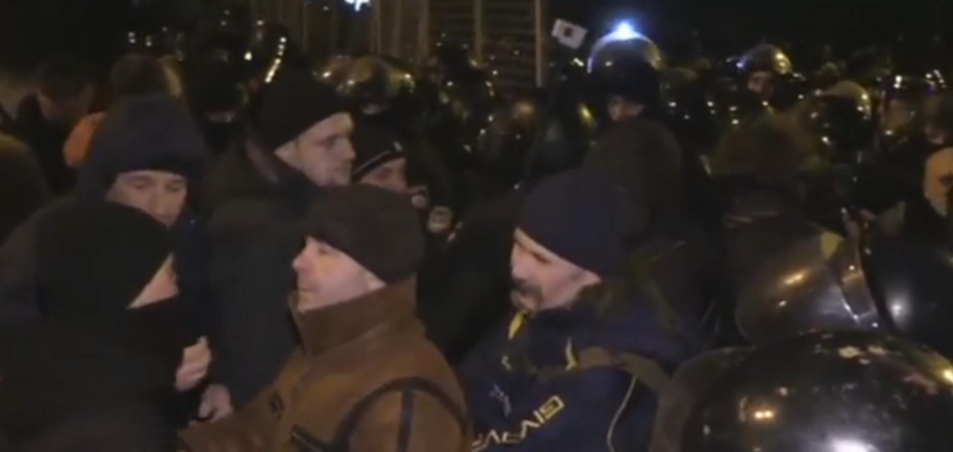Столкновения в центре Киева: в полиции рассказали подробности