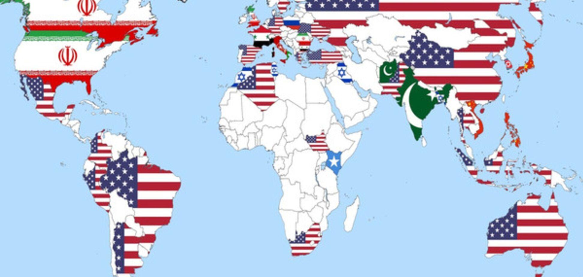 Соцсети взбудоражила карта самых опасных стран мира