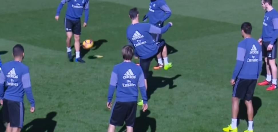 Роналду тренировка Реала