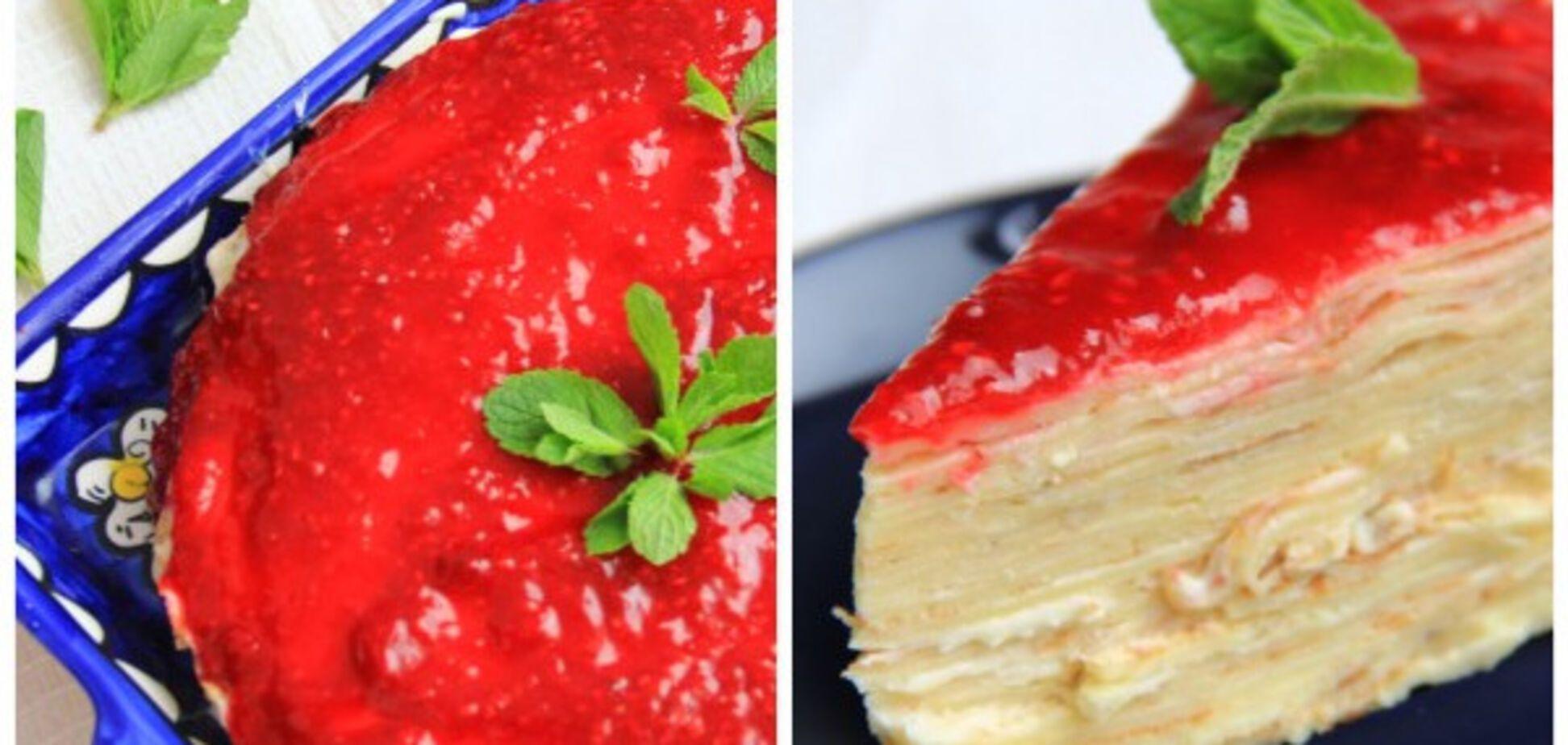 торт с блинов