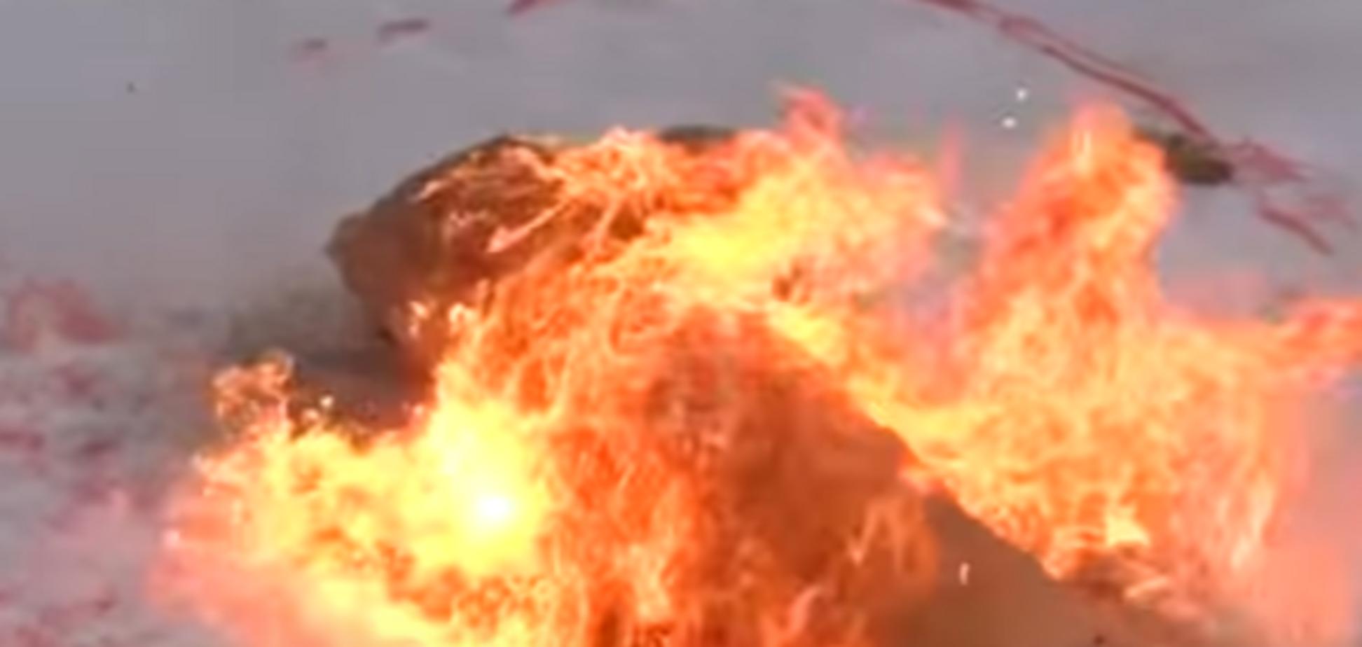 Сжигание фекального столба