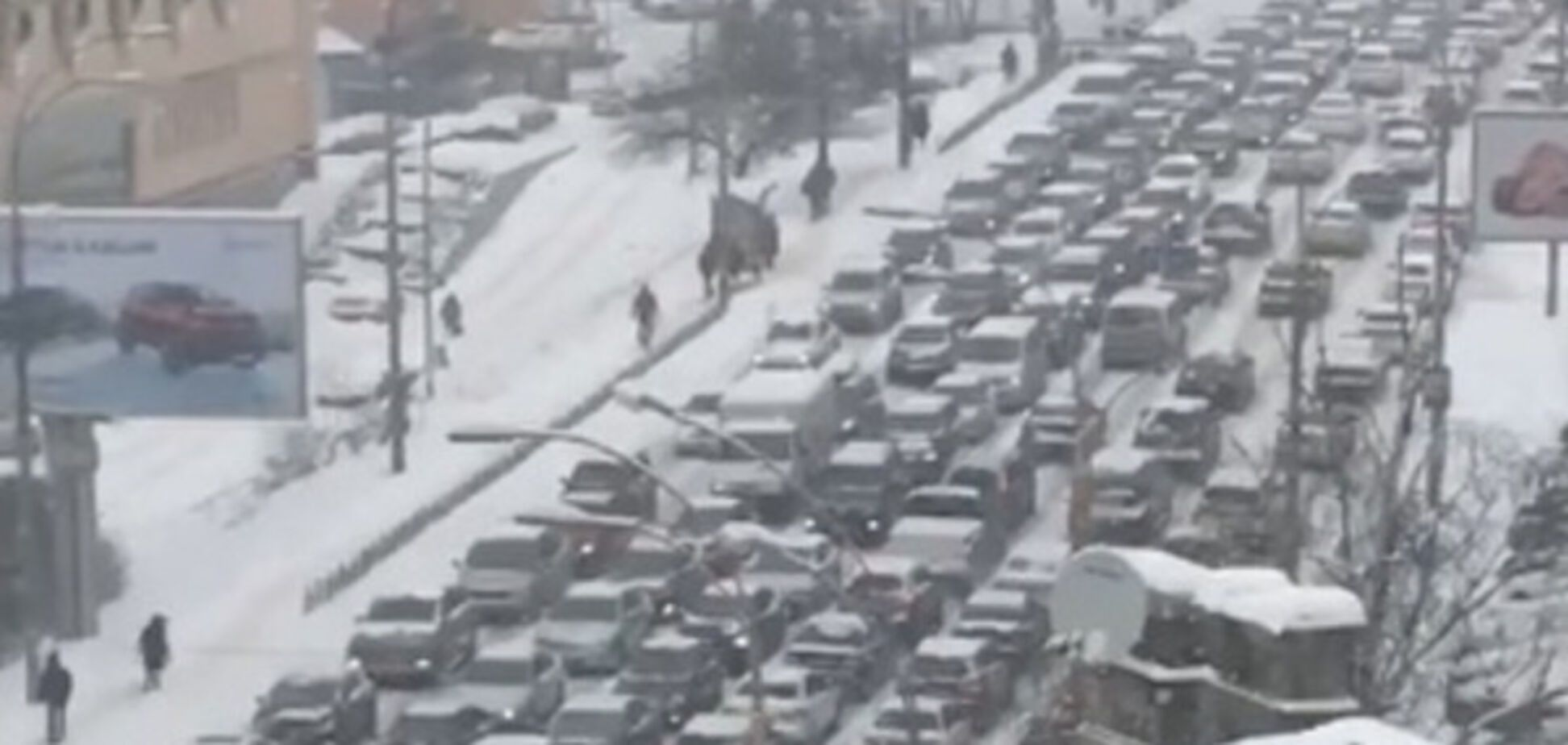 Масса ДТП и мегапробки: как по Киеву ударил снегопад
