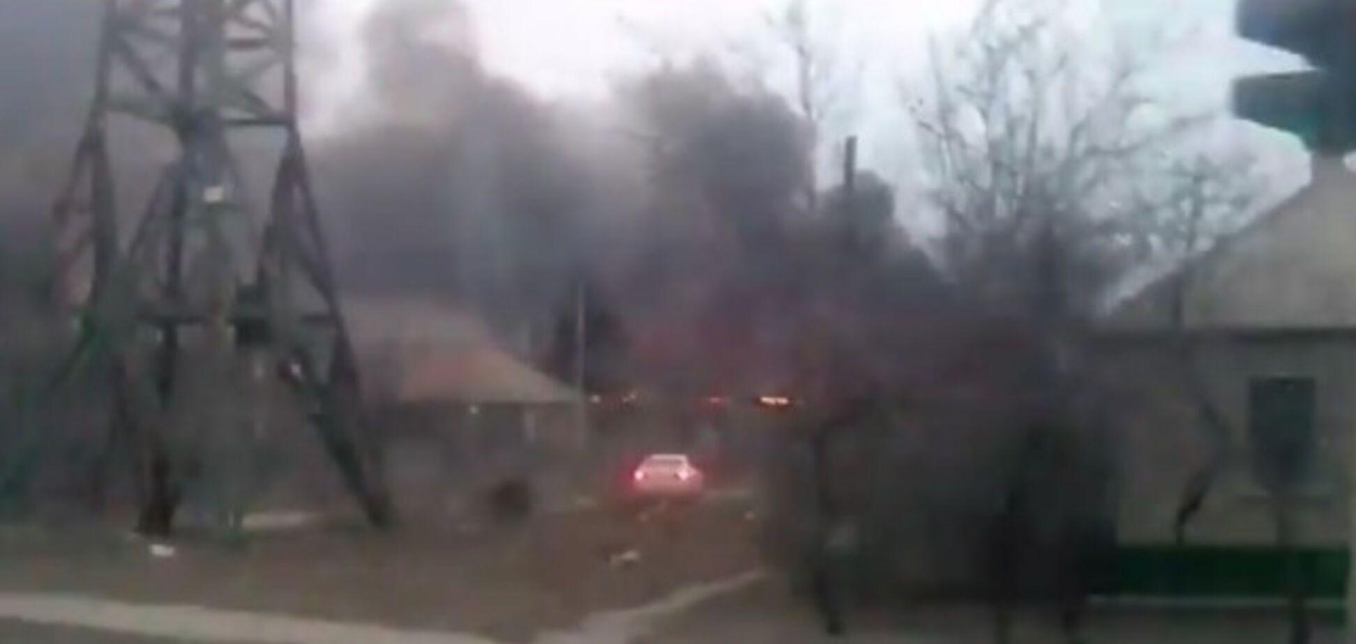 Пожар в Луганске