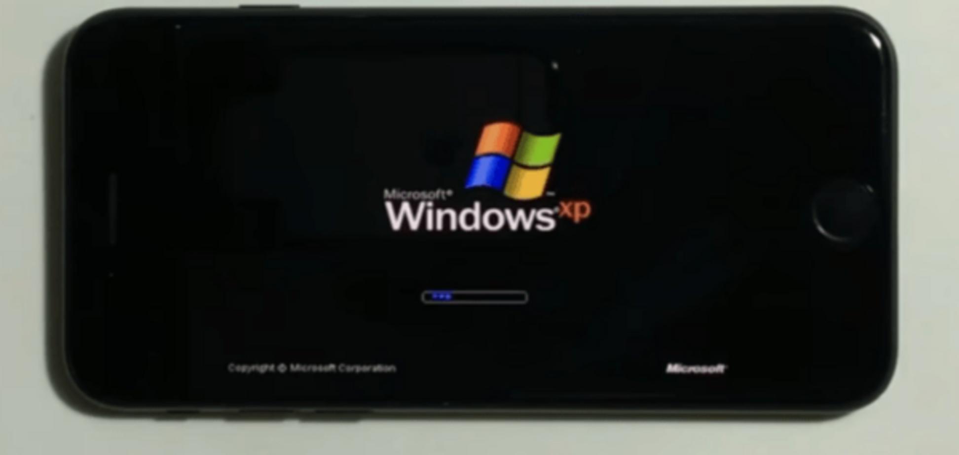 на смартфоне iPhone 7 запустили Windows XP