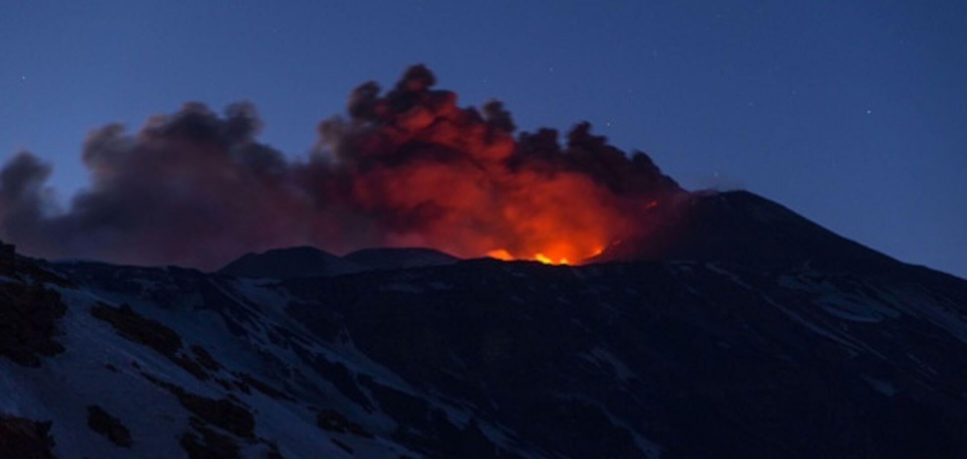 вулкан Этна извержение