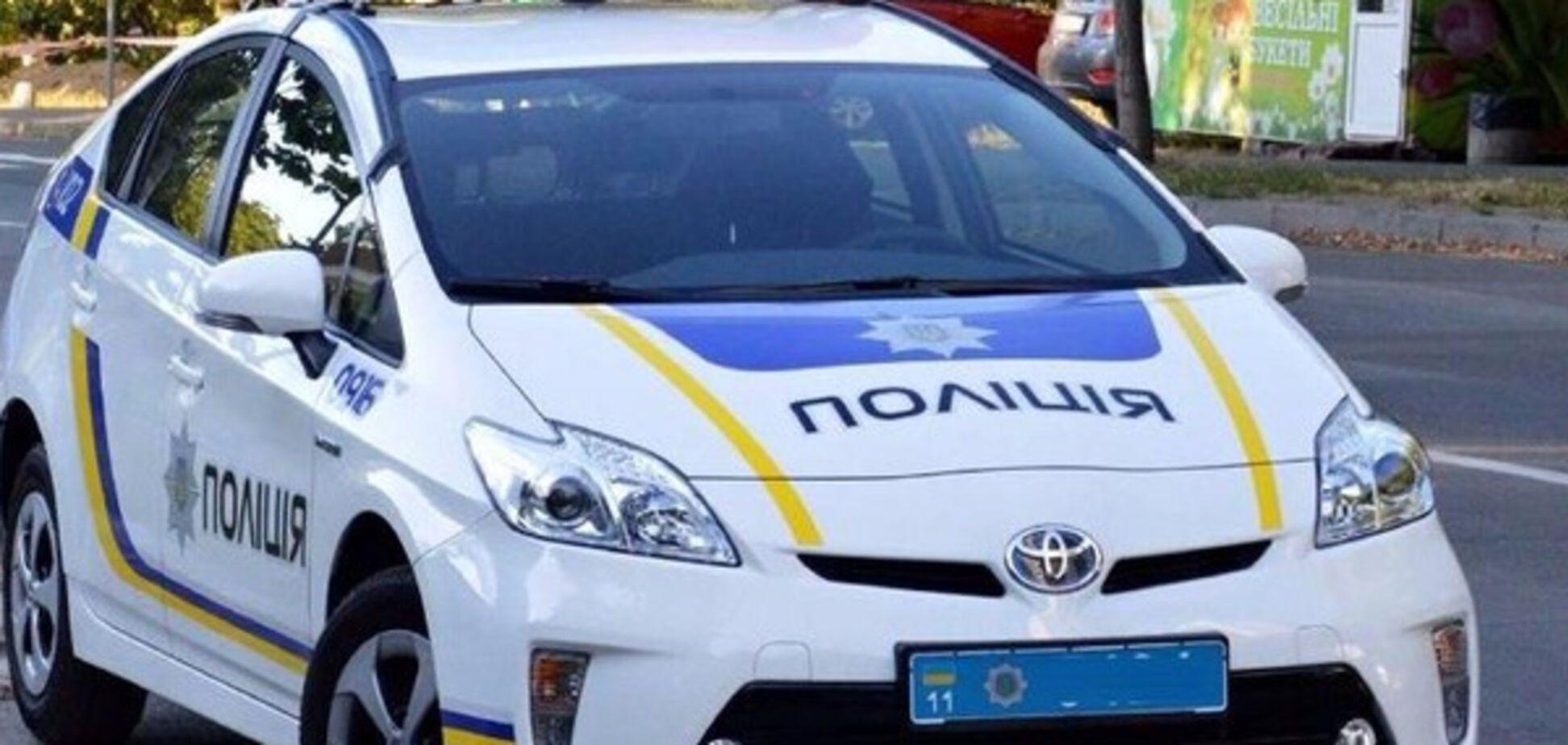 Запорожские патрульные попали в аварию