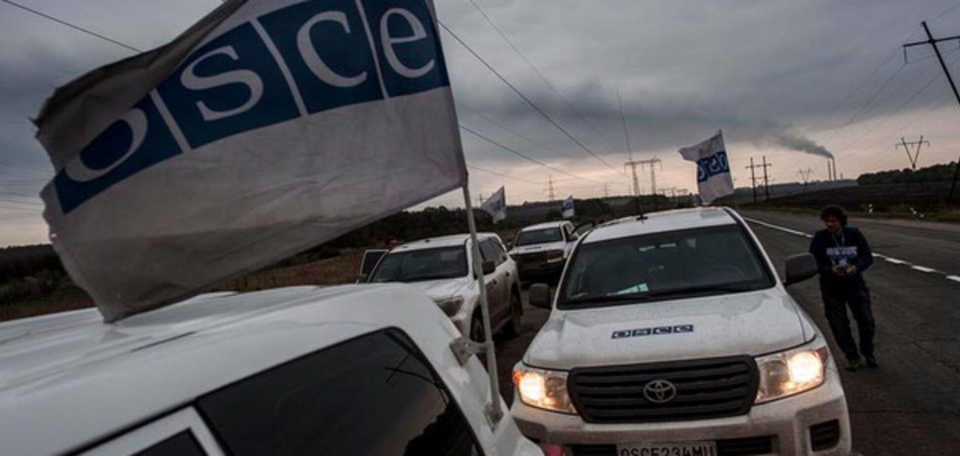 Миссия ОБСЕ на Донбассе попала под обстрел